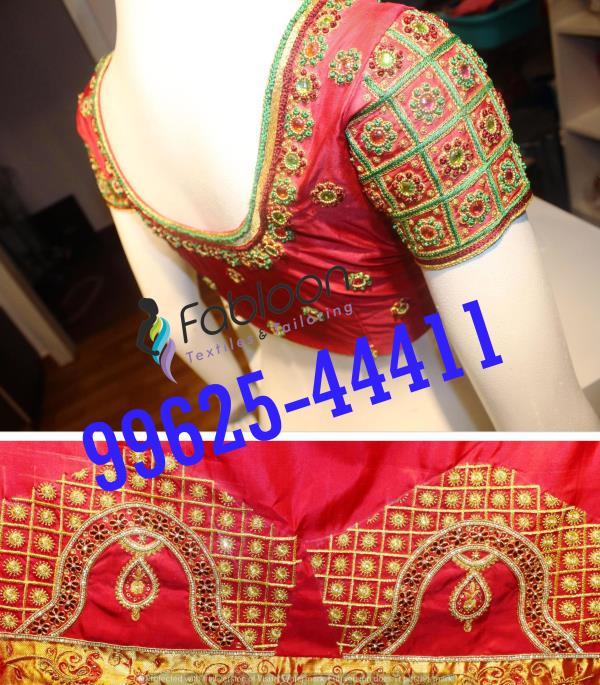 Designer Blouse For Wedding At Fabloon Embroidery Silk Designer Blouse Stitching In Vadapalani, Mob: +91 9962544411, 044 48644411.   💥 Indian Wedding Embroidery Blouse  💥 Blouse Back Neck Designs  💥 Latest Blouse Models  💥 Wedding Blouse Designs Check all updates for more collections.