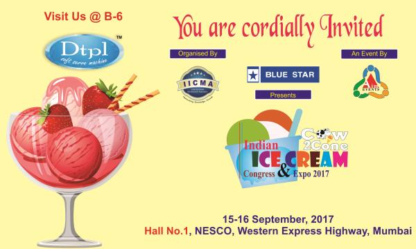 Devi Technocraft Pvt. Ltd, Leading manufacturer of Softy Ice Cream Making Machine invite you all at IICE-2017, Mumbai