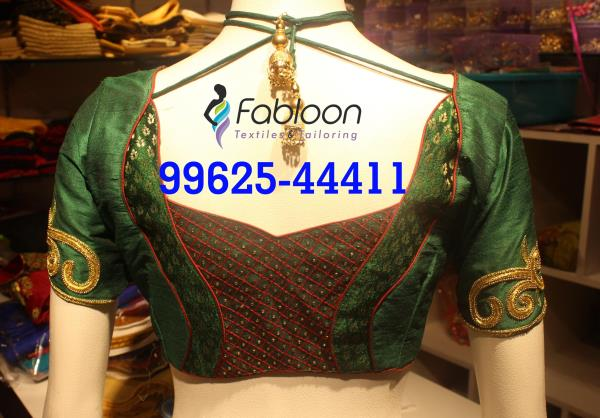 Wedding Work Blouses At Fabloon Designer Cut Blouses In Vadapalani, Mob: +91 9962544411, 044 48644411.  💥 Best Tailors In Chennai 💥 Bridal Blouse Stitching In Chennai 💥 Ladies Tailors In Chennai 💥 Wedding Blouse Designers In Chennai Check all updates for more collections.