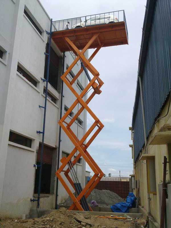 Hydraulic Scissor Lift Low maintenance and are at par with international standards in terms of quality, design and performance. Tailored - made as per requirement  Manufacturing Range  Capacity - 500 Kgs to 40 tons Lifting - 2' to 50' Platform Range - 4' to 40' X 4' to 40'   Email - hussain@hydrofabs.com Mobile - +91 80957 37355 Web - www.hydrofabs.com Our Products Hydraulic Lifts Scissors Lift Hydraulic Scissors Lift  Hydraulic Car Lift Scissor Lift Scissors Type Car Lift Goods Lifts Bike Lift Car Elevators Goods Elevators Two Wheeler Elevator