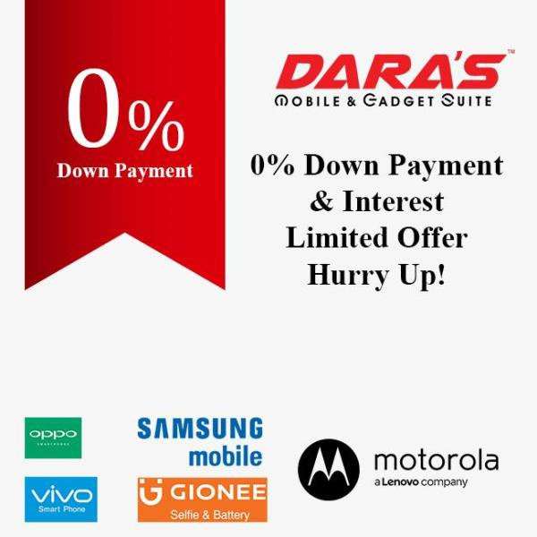 0% Down Payment & Interest Limited offer Hurry Up at DARAS