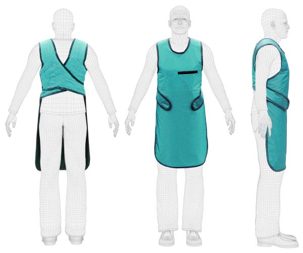 Lead Protective X-ray Apron Vest Protection New Material 0.25mm   Features:          Exclusive Revolution outer material         Partial overlap to increase protection         Two-tone color blocking         Every Revolution Apron comes with Cool Wear moisture-wicking fabric         Professionally designed for an exceptional fit and comfort         Revolution Fabric is the softest and most comfortable fabric ever used for x-ray protection products. Each color has been custom created for the Revolution line and is lightweight, waterproof, abrasion resistant, flame resistant and bacterial resistant.         0.25mm Protection Level   To Buy Click on :  http://www.ebay.com/itm/122663985982