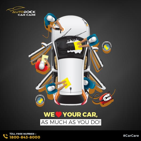 Your car's care is equally important for us! Get complete car care solutions only at Autodock Car Care.  To contact, call us on our toll-free number- 1800-843-8000.  Or visit autodock.co.in