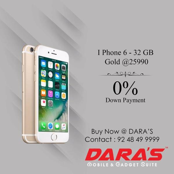 Buy #I_Phone_6 Gold 32 GB memory for rs. 25, 990/- With 0% Down Payment. Hurry Limited offer.