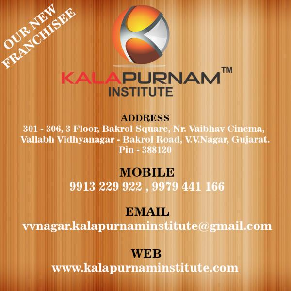 OUR NEW FRANCHISEE AT VALLABH VIDHYANAGAR ( Anand )