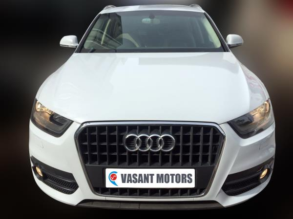 AUDI Q3 2.0 TDI QUATTRO, (GLACIER WHITE METALLIC COLOR, DIESEL) 2014 model done only 65, 000kms in absolute mint condition... buy now and get one year #service pack from us. For further info call 7569696666
