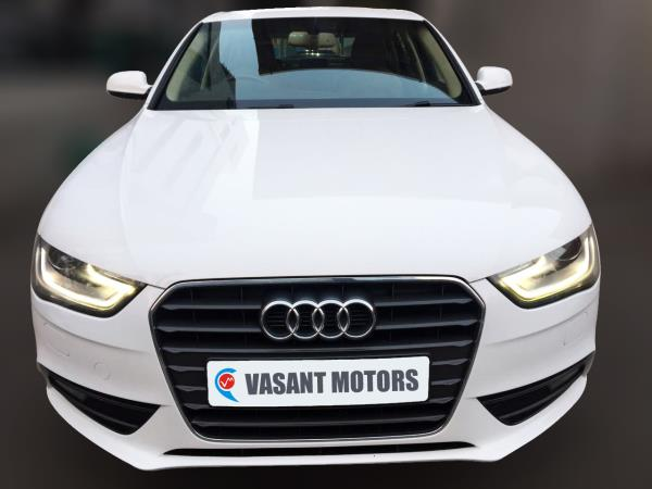 AUDI A4 2.0 TDI MULTITRONIC BSIV, (IBIS WHITE COLOR, DIESEL) 2013 model done only 52, 000kms in absolute mint condition... buy now and get one year #service pack from us. For further info call 7569696666