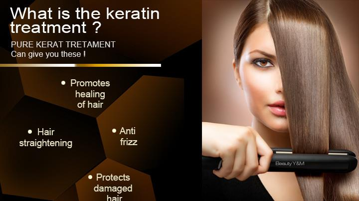 Keratin hair treatment for damage hair treatment