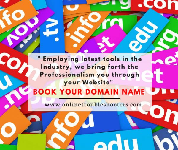 Get Latest #Technology for your #Business - Book your #DomainName & #Host your #Website.  Get Professionalism in your Website.  For more talk to our Soution Specialist at https://goo.gl/ttcBUJ