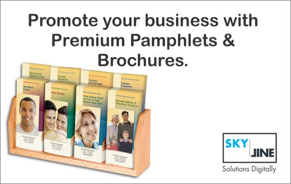 Pamphlets and Brochures printing in chennai  Promote your business with premium pamphlets and brochures. Brochures are specifically designed for branding and communications that make an impact. With high-quality paper, Skyline offers vibrant colours and superior finish for pamphlet, brochures printing.