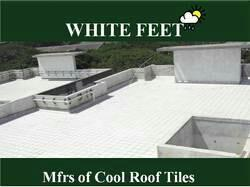 White cool roof tiles in Chennai