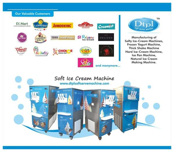 Softy making machines by Dtpl, Ahmedabad