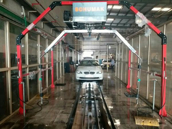 Schumak manufactures Touchless Car Wash , BrushlessTouchless Car Wash, Speed Car Wash, Eco Car Wash  * Car body wash @ 22 bar pressure  *  Followed by Shampoo spray automatically. *. Manual Moping for 45 seconds *. Final Body wash @ 22 bar *. Under body wash @ 24 bar pressure.  The whole operation will be completed within 3.5 minutes.  This is fully made of SS304.  Water consumption per car will be 125 Litres.  The cost of the machine is Rs.9 Lacs including Price, freight and installation.  Web : www.schumakindia.in  A.Vijayakumar,  Director 0091 9363144383