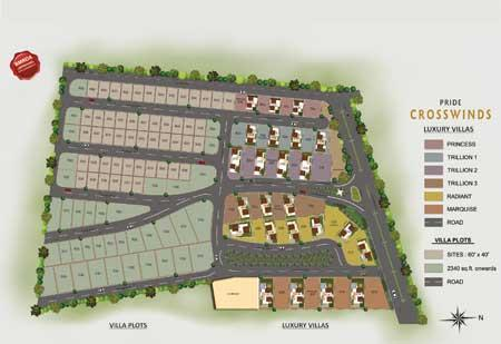 Luxury Villa plots for sale in Bangalore South Infrastructure and amenities like 15 meter & 12 meter wide concrete roads, Wide pathways with designer paver blocks, Kerb Stones for roads, Underground sump with capacity to provide adequate drinking water to all residents... www.pridegroup.net/pride-crosswinds-plots