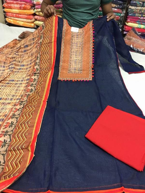 Chanderi shirt with digit