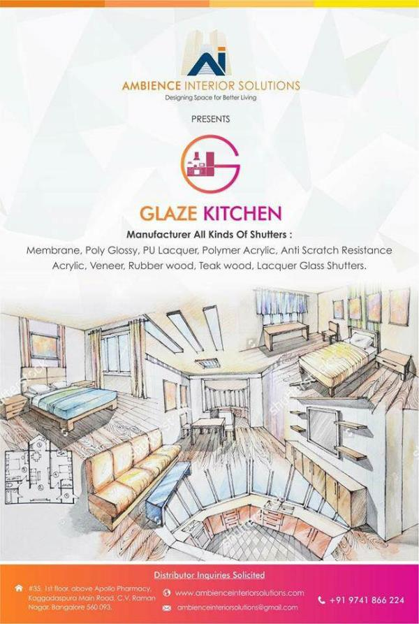 Glaze Kitchen this is our new brand for Kitchen and Cabinets we will be supplying are products all over India. Please let us know if anyone looking for it. It comes with 3 year warranty with all branded hardwares and plywood which is been used is 100% garjan (Boiling water proof).