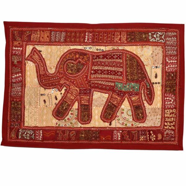 Buy Jaipuri Applique Embroidered Elephant Hanging  Online in Bangalore  This Rajasthani Handcrafted applique Elephant design wall hanging is embellished with intricate hand embroidered resham work. The gift piece has been prepared by the creative artisans of Jaipur.  Click on the below link to view the product:  http://littleindia.co.in/jaipuri-applique-embroidered-elephant-hanging-528/p640