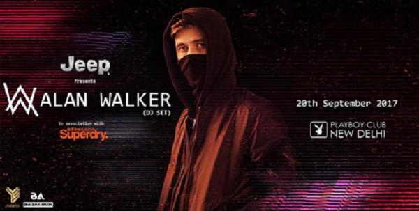 Alan Walker Live at Playboy Club in Hotel Samrat 20.09.2017  Alan Walker is a Norwegian-English EDM artists that gained international fame and recognition after his hit single