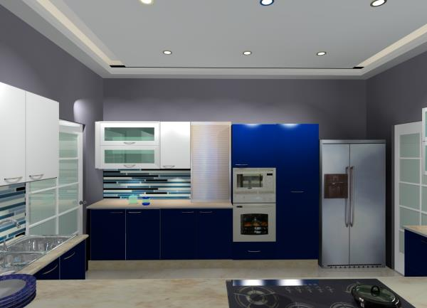 Modular Kitchen in Gloss laminate Designed by BLK Lifestyle