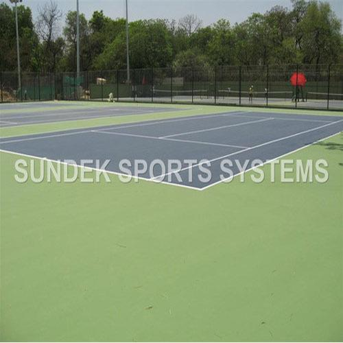 Tennis Court Synthetic Flooring  We Sundek Sports Systems are manufacturers of Tennis Court Synthetic Flooring in Mumbai.  As well as in India. The company is well known in the market for the wide range of services which we offer to the customers that include the Tennis Court Synthetic Flooring which have a very sturdy make and they are supplied to the customers on time. These flooring are available in various colours and they have a very sturdy make and they have been bought from well known vendors in the market and they offer a high performance to the customers in the market.   Features:   Reliable Efficient Reasonable rates   Benefits:  Installation from one single partner Synthetic coat Timely installation