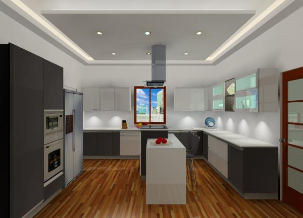 Modular Kitchen in  Glossy Laminate  Designed by BLK Lifestyle Delhi
