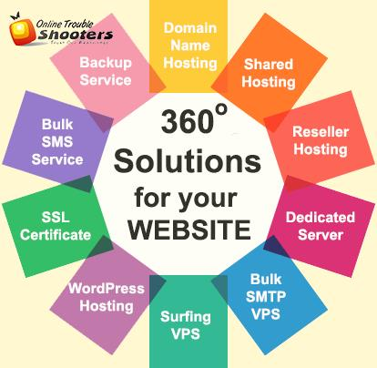 #WebHosting Providers in India - 360 Degree Solutions for your #Website - #OnlineBusiness.  More than 10, 000+ Domains already Hosted.  Try our #Hosting Services for your #Business also! For more visi - by Online Trouble Shooters, Faridabad