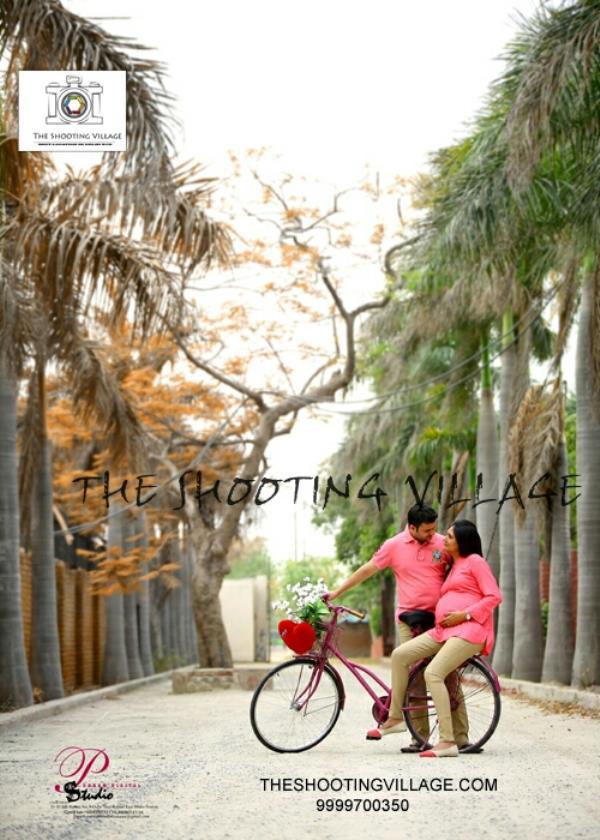 The shooting village presents maternity shoot at theshootingvillage prewedding location best location in delhi ncr.