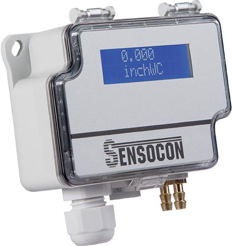 "The Series ""Sensocon DPT"" Multi-Range ""Sensocon Diffrential Pressure Transmitter cum indicator"" was designed specifically for the building automation and HVAC industry. With field selectable ranges down to 0.1 inches w.c., this product is ideal for monitoring building pressure, static pressure, differential pressure, or air velocity and flow. The Series DPT Sensocon Diffrential Pressure Transmitter cum indicator also has jumper selectable outputs for 4-20 mA or 0-10 V and unit selection giving additional flexibility. For a virtually maintenance free transmitter, order the optional automatic zero and the transmitter will perform its own zero point maintenance. The Multi-Range Differential Pressure Transmitter also has an optional backlit LCD for giving local indication."