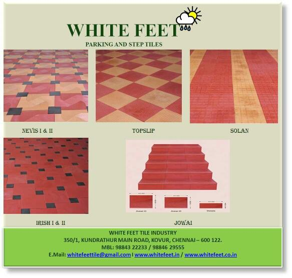Parking and step tiles in ramapuram