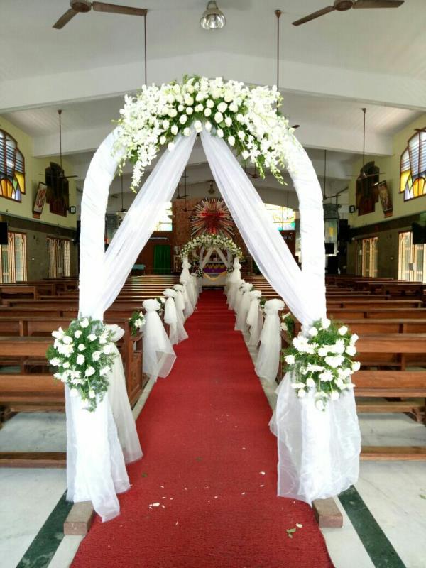 Christian Wedding Decoration At Pala Vakkam St Antony S Church