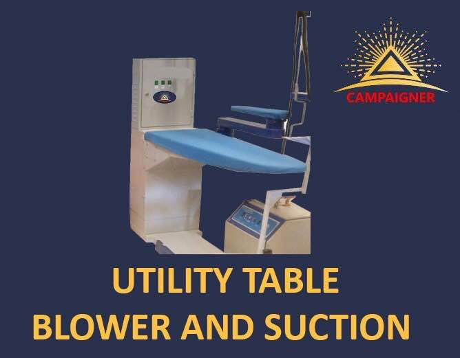 Utility Press Table Available  In Delhi. With Both Blower And Suction Function. Can come With Built In Boiler Also. Special offer for Limited Period.