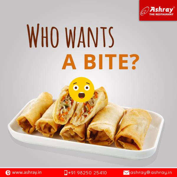 Anyone can fall for the food that looks this good.  Just drop by at Ashray Restaurant to relish such succulent looking platters!   #Paneer-Cheese-Roll  #Cheese-Roll  #Ashray-Restaurant-in-Ahmedabad  #Hotel-Ashray-Inn-in-Ahmedabad  #Hotel-Ashray-Inn-Express-in-Ahmedabad