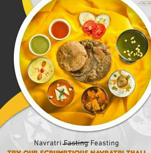Navratra Food, Pandara Road  Embrace the joyous festival of Navratri with our appetizing Thali! Drop in today! Visit us or call - 011- 23388830, 011-23388862 #Foodie #Vegetarian #Fasting