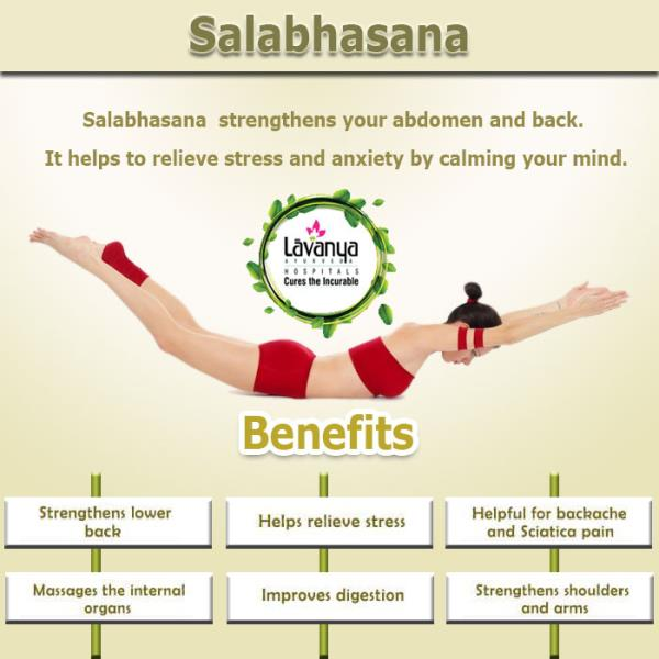 Salabhasana strengthens your abdomen and back. आयुर्वेद अपनाएं स्वस्थ रहें! For more information, please visit: http://www.lavanyaayurveda.com/ #ayurveda #health #ayurvedic #ayurvedatreatment #ayurvedictreatment #ayurvedicmedicine #ayurvedaexpert #ayurvedalife #AyurvedaHealth #wellness #Panchkarma #Department #Naturopathy #Healthcare #Ayurveda #eathealthy