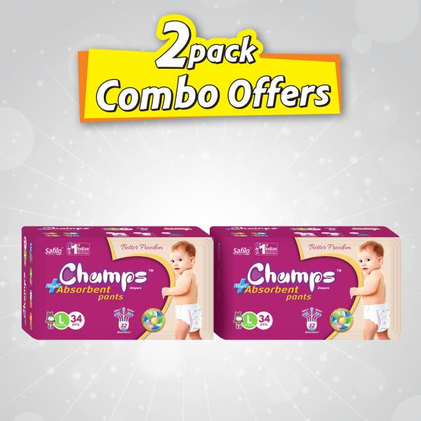 Perfect Dryness and Soft Comfort Give your baby the best comfort all through the day and night with the CHAMPS diapers. With its cotton-like softness, it protects your baby's skin from friction rash and offers comfort and protection. It features an extra dry layer.  It keeps your baby's skin dry and healthy. Offering up to 12 hours of dryness, these CHAMPS large size diapers protect your baby's delicate skin from wet rash, inflammation and irritation. With comfort of movement, nourishment and protection, these large size diapers keep your baby comfortable and cheerful at all times.  Care and Nourishment for Your Little One Designed for comfort, these CHAMPS large size diapers help your baby move, sit and walk with ease. Its thin design makes it a perfect choice to wear under your baby's clothing when you dress your baby for parties or outings.  Infused with Aloe Vera lotion, this diaper keeps your baby's skin moisturized and nourished all the time. The gentle Aloe Vera lotion also provides a water-repellent protective layer between the skin and the diaper. This keeps your baby's delicate skin smooth and protects it from diaper rash, roughness and irritation.   E-mail: wecare@safilocare.com  Contact: 08079444679  Keywords: First  Indian Manufacturer | Diaper | Baby Diaper| Manufacture In Punjab | Wholeseller in Punjab | Traders In Punjab| Punjab| Diapers in Punjab |   whatsapp : +91 7573040437 / 39