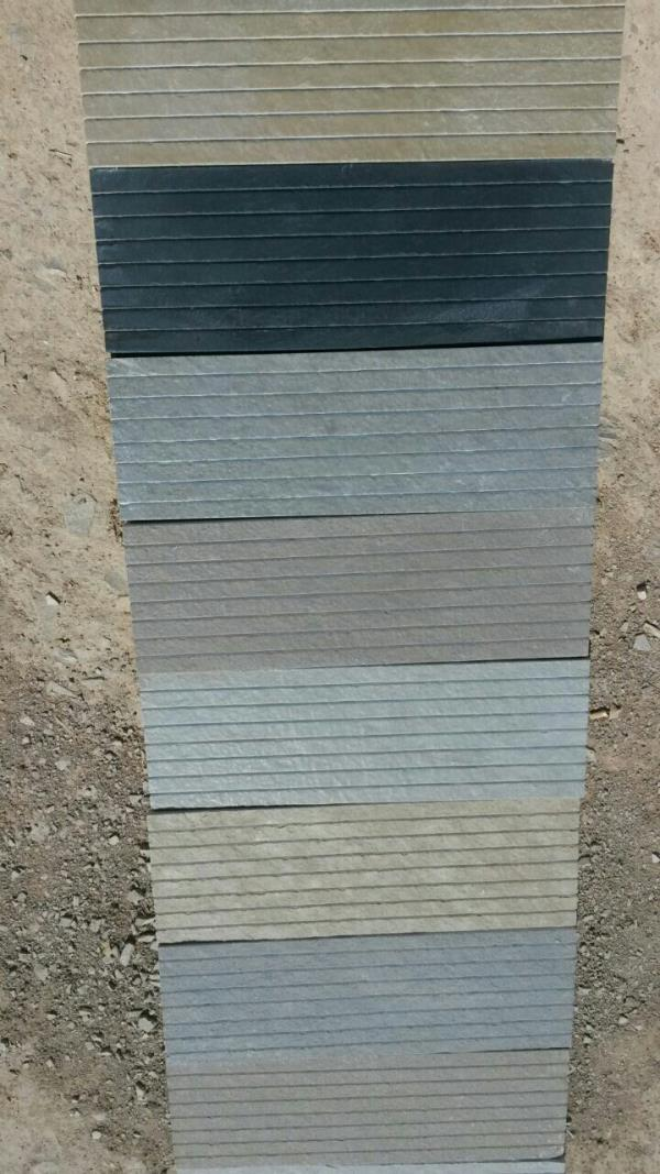 Multi colour grooved Ston