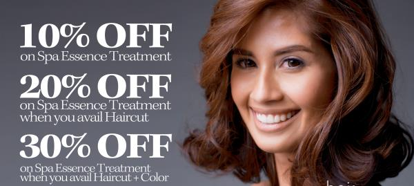 Get Discount On Hair Spa , Hair color , Hair Style change , Hair cysteine , Smoothing , Re bonding ,