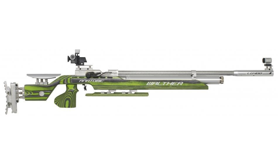 Buy Walther LG400 Anatomic GREEN PEPPER Rs. 2, 30, 000/- Limited Stock  (Immediate Delivery)  For More Information Contact: +91 8550994091 or email: hubshootingsports@gmail.com  Go for gold with WALTHER guns. Successful sportsmen choose WALTHER. They have garnered gold medals and titles with air guns of the LG300XT Series. How can this string of victories be continued in the future? The reply of WALTHER's engineers: with the LG400.  Your personal high-tech precision rifle. The WALTHER development center has created a high-tech precision rifle that's ahead of its time: pointing the way forward with its functionality and with its wide range of features. Assemble for yourself an air rifle matching your requirements in full, and start to prepare for your competition. With the LG400 you're a winner - as a club member or as an Olympic participant.  LG400 Anatomic EXPERT: • Compressed air system for 300 and 200 bar • Modular system for personal features and upgrades. • Individually adjustable center of gravity and weight distribution • EQUALIZER magnetic absorber system • Pressure reducer with QUICKCLEAN air filter • Aluminium cylinder with pressure gauge • Ergonomically shaped loading lever can be placed on the left-hand or right-hand side • Carbon fiber barrel jacket • ECO valve technology: - Minimal opening pulse - Reduced shot development time • Breech: convenient loading, precise pellet guidance • Loading status indicator • Dry firing trigger • VARIO trigger for extremely fine settings • Laminated wood stock with a wide range of settings and T-slot rail • Precision stock length and cheek piece setting • 3D grip adjustment with MEMORY effect • Infinitely adjustable fore-end with knee joint • Light metal butt plate MEC CONTACT III • Absolutely tension-free barrel mounting • INSIGHT-OUT match diopter, CENTRA SCORE foresight holder • sight elevation BLOCK CLUB • Barrel weight • Gun case and accessories  For More Information Contact: +91 8550994091 or email: hubshootingspo