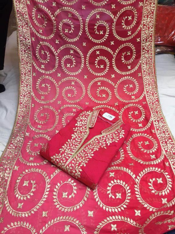 Karva chauth special suit now available at ganpati textiles delhi