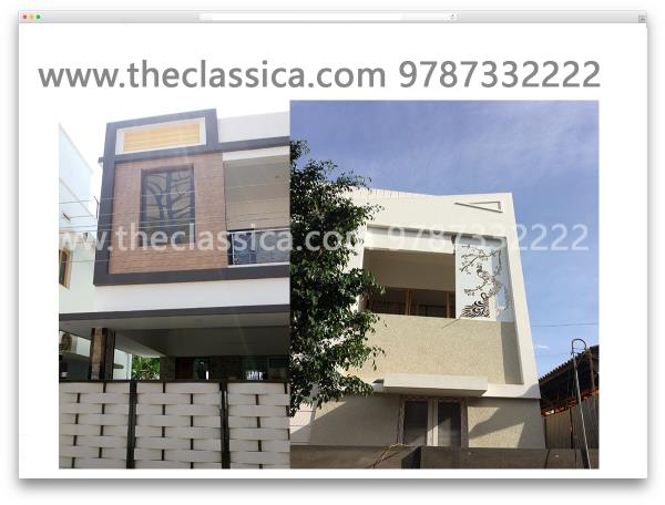 We do all type of elevation work in Metal Laser Cut in MS SS ALU  We Have a Creative Ideas as your require . We Do Work with Excellence. We Also Make your Choice of Design IN LASER CUT .... For more info visit us at www.theclassica.com 9787332222  info@theclassica.com