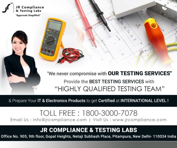 Provide the Best #TestingService with Highly Qualified #Testing Team &  Prepare Your #IT & #Electronics Products to Get Certified at #INTERNATIONAL LEVEL  JR Compliance and Testing Labs  For More Details :-  Toll Free: 1800-3000-7078 Email: info@jrcompliance.com Website : http://www.jrcompliance.com/