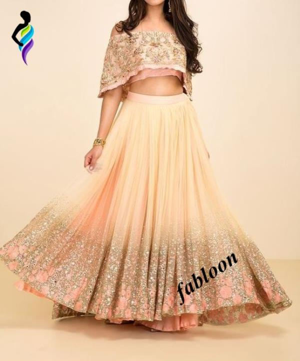 Cream Georgette Printed Cape Top Designer Party Anarkali Wear At Fabloon Fashion Boutique And Designer Tailoring In Vadapalani, Mob: +91 9962544411, 044 48644411.  Blouse Tailoring In Vadapalani.  Aari Work Stitching At Kodambakkam.  Wedding Outfits For Bride Around Ashok Nagar.  Kameez Stitching Near Pillar.  Check all updates for more Collections.
