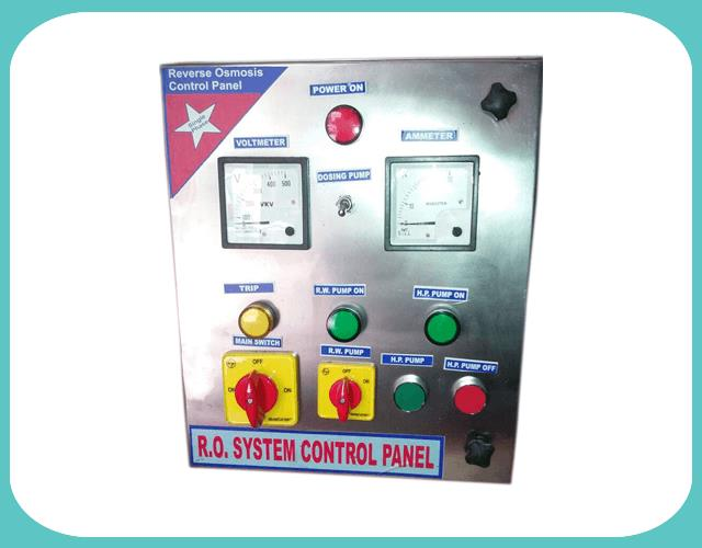 Owing to our rich industry experience and our expertise, we are offering RO Control Panel to the clientele. The technically effective and advanced range of these control panels installable within the least period of time is available with our organization. The entire credit for the trouble free performance of these control panels goes to the quality inspectors who thoroughly examine these control panels on several well-defined industry parameters before making these available in the market for sale.