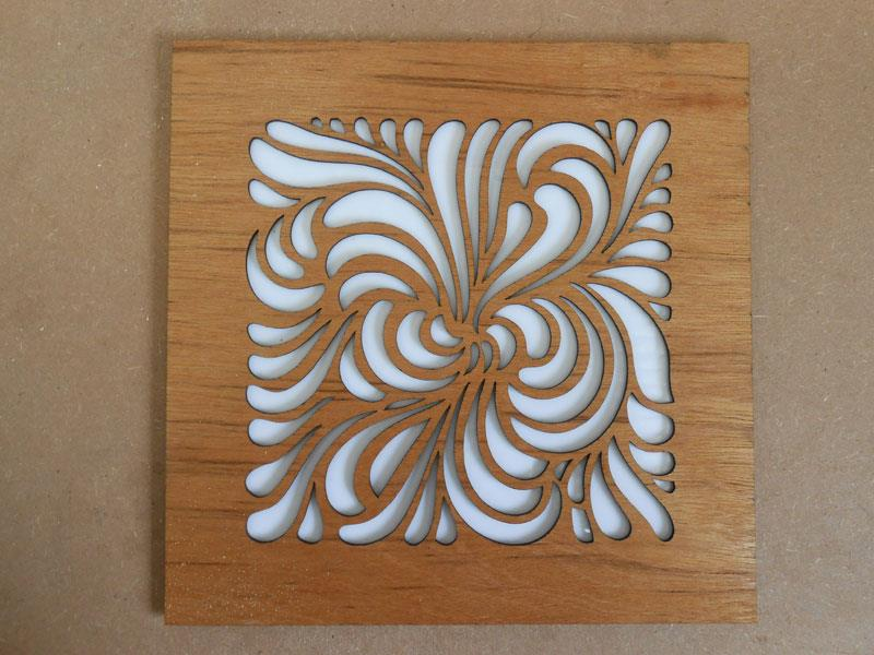 20 mm Thickness - TEAK WOOD - Architect Design Made In Water jet Cutting Machine..This Profile Used To locate In Reception hall in Office.  As per Our customer requirement we have cutting the design as per the given drawing.  For Example This Kind Of Designs Are Also Used In front of gate Designs , Portigo Designs, Balcony, Roofs , Marriage Reception hall, etc....  Good Finishing,  Immediate Delivery As Per Customer Requirement Date.  All kind of Engineering And Architectural Profiles Can Be Cut..  As Per Customer Requirements Three Type Of Finishing Done Here (Roughing, Medium Finishing & Smooth Finishing).  Around 205.0 mm thickness can be cut in our water jet cutting machine with smooth finish.  We have finished this job without any damage or Scratches.  with Perfect fitment  This design can be cutting to all kind of materials   Teak Wood- Architect Profiles.  For example Sealing, Gate, Portico, Wall Design.Roof design,