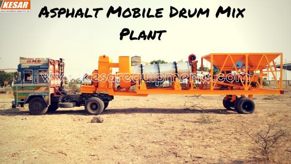 Asphalt Mobile Drum Mix Type Hot Mix Plant Manufacturer And Supplier In Punjab, HimachalPradesh, Etc.  Kesar Road Equipments Manufacturer Of Asphalt Plants In Mehsana, Gujarat, India.  www.kesarequipments.com