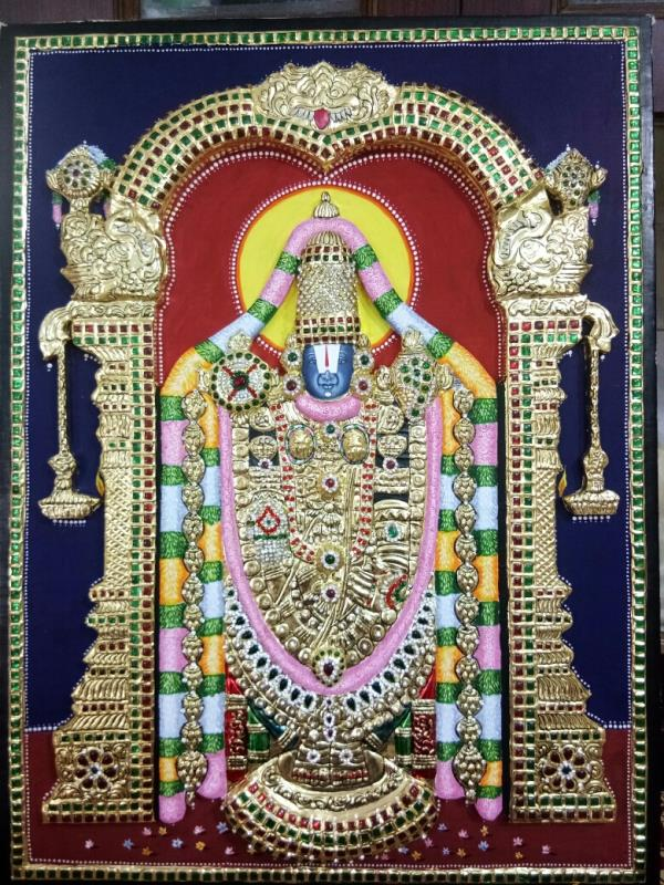 Tanjore painting vekateswara swamy  Tanjore painting classes in Hyderabad  Tanjore painting sales in Hyderabad  Tanjore painting Stones sales in Hyderabad  Tanjore painting gold foil sales in Hyderabad  Tanjore painting materials in Hyderabad  Art classes in Hyderabad  Tanjore painting images