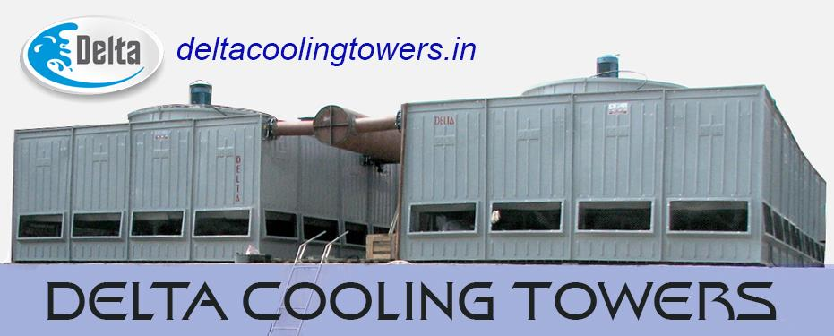 Delta - Manufacturer of Cooling Towers  Delta's induced draught counter flow cooling tower represents the culmination of more than 25 years of design experience. With poly vinyl chloride film type fill, glass reinforced polyester casing and - by Delta Cooling Towers P. Ltd.  9811156637, New Delhi