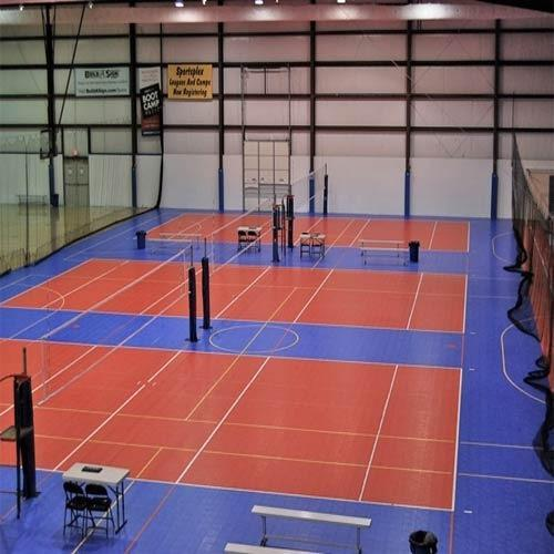 Volleyball Court  We Sundek Sports Systems are manufacturers of Volleyball Court                                          in Mumbai.  As well as in India. Product Details: Court Type	Indoor Provide AMC	Yes Available Flooring Services	Installation Also have expertise in	Tennis Court Flooring, Basketball Flooring, Volley Ball Court Flooring, Squash Court Flooring, Gymnasium Flooring  We are a company which is well known in the market for the supply of various products and various kinds of services we offer to the customers such as the Volleyball Court which we offer to the customers and the work is carried out as per the quality parameters set by the industry and it is done as per the specifications given by the customers. They have been priced at very reasonable rates in the market and they are offered to the customers on time.   Featuresa:   Durable Robust Fine finishing