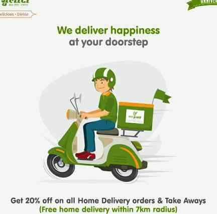 Veg Gulati Restaurant Pandara Road   Super Anniversary Discount! Get 20% off for Home Delivery. Hurry and start ordering! Call us - 011- 23388830, 011 - 23388862 or order online through Zomato and Swiggy.