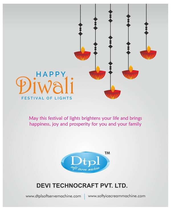 Dtpl manufacturer of ice cream machine wishing you all Happy Diwali